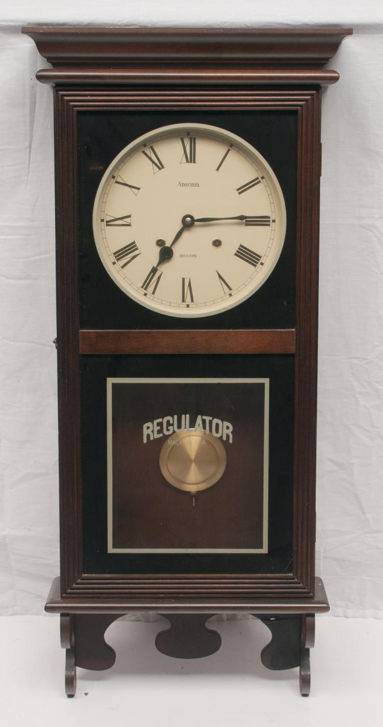 American Ansonia Regulator wall clock with 31 day movement, 17