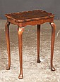 Queen Anne walnut side table with scalloped pie crust top, shaped apron, cabriole legs and pad feet, c.1890, 16