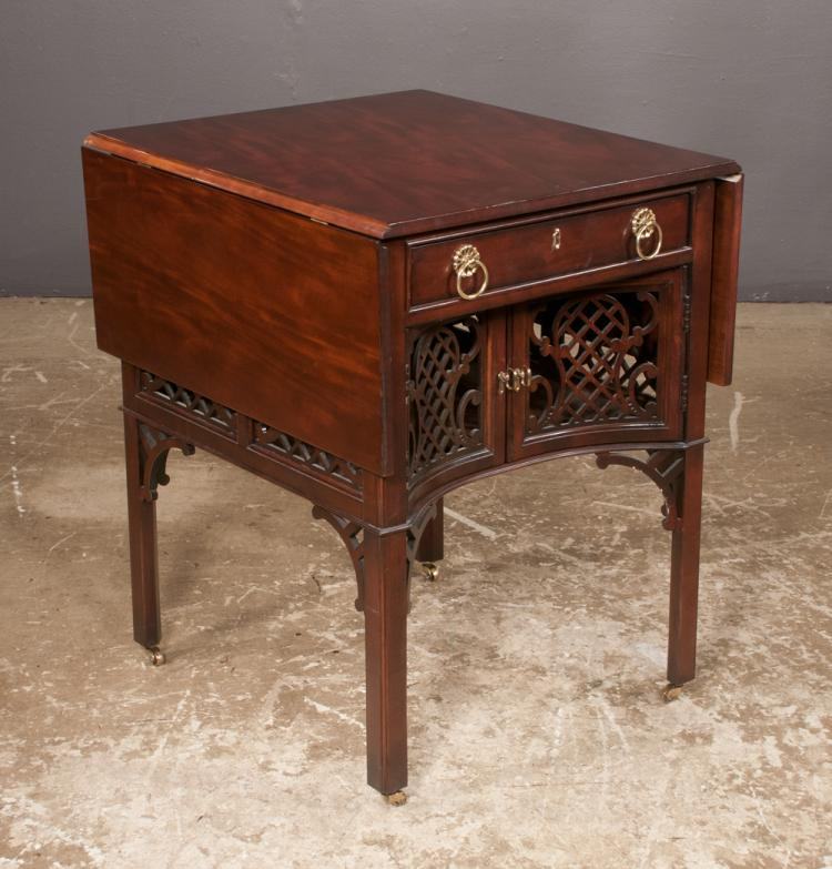 Chippendale mahogany pembroke table fitted with center drawe for Furniture northgate