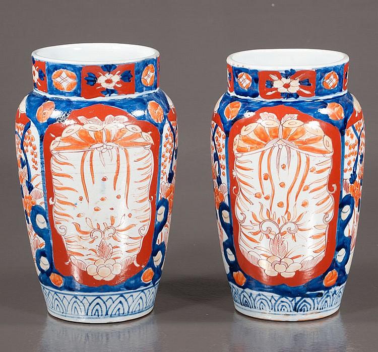 Pair of Japanese Imari baluster shaped vases Meiji period (1868-1912),  9