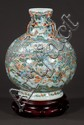 Chinese porcelain vase with floral and scenic decoration, 13
