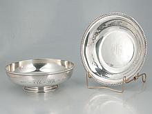 Sterling silver bowl, 9
