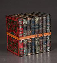 English tin biscuit box in the form of a stack of eight books, 7