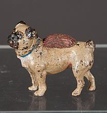 Vienna cold painted bronze depicting a pug fitted as pin cushion, 2