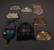 Collection of mesh hand bags, some are
