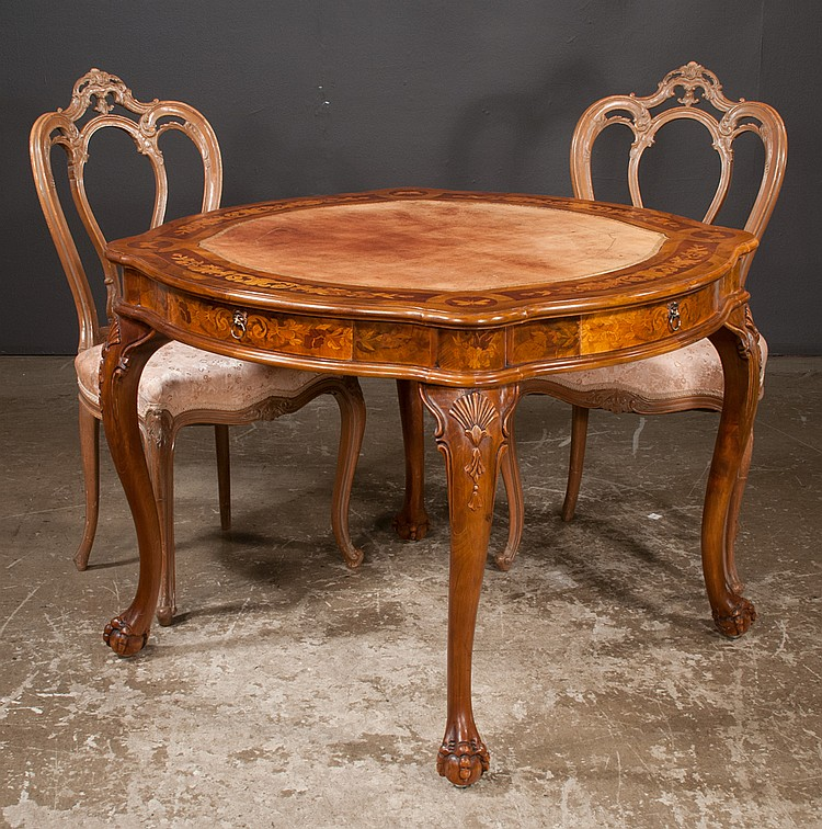 Terrific Chippendale Style Walnut Game Table With Butterfly And Machost Co Dining Chair Design Ideas Machostcouk
