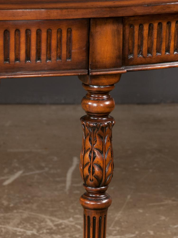 Pleasant Sheraton Style Mahogany Bow Front Console Table With Fluted Bralicious Painted Fabric Chair Ideas Braliciousco