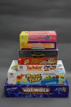 COLLECTION OF 7 BOARD GAMES. Including Hotwires, Mousetrap and Twister.