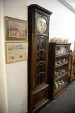 GERMAN LONG CASE CLOCK WITH BEVELLED GLASS. 212cm high.