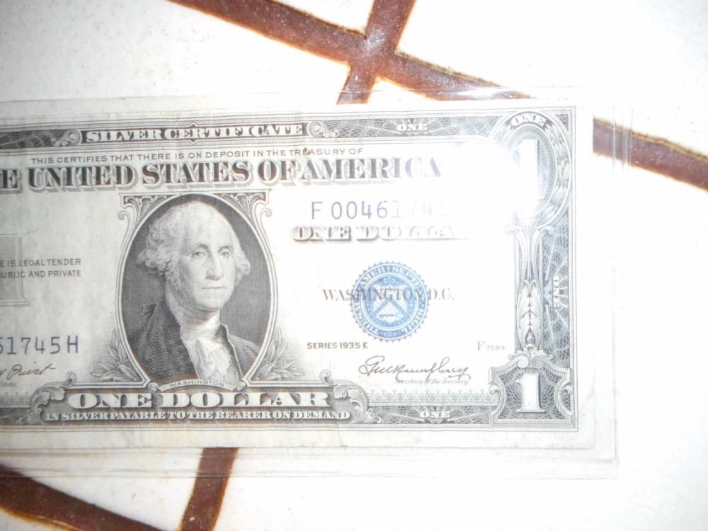 1935 E Silver Certificate Series 1935 E One Dollar Silver