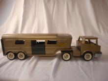 1960's Vintage Structo Truck and Trailer Toy Collectable Metal Original Tires