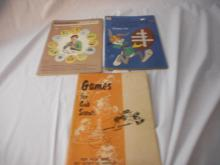 4 Books Bugs Bunny 1974 Experiment Book-lab 1963 Games for Cub Scouts 1971 Hobby Fun 1952
