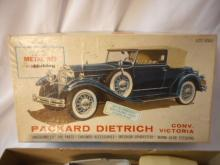 Hubley Metal Kit Model 1930 Packard Roadster Dietrich in the Original Box made in Italy
