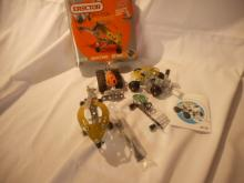 3 Erector set Toys with the boxes, they are used, in great condition, take them apart and reassemble them
