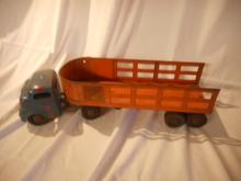 1950's Structo Truck & trailer, Overland Freight Lines, C-3044, nice metal, unmolested, original Toy