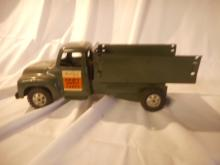 50's Buddy L Military toy Truck Nice Condition, Missing the tail gate, straight metal, original