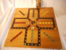 Vintage Broad Game Called Aggravation Hand Made Amish Has the Original Wooden Marbles Nice Condition