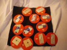 12 Kleenex Pin Badges Dating From 1924 - 1968 Nice Condition Rare