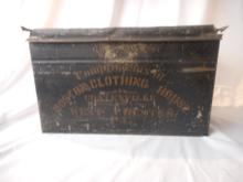 Rare 1880 Boston Clothing House Advertising Tin/Lid/wooden Handle, From Coatesville, West Chester, Pa