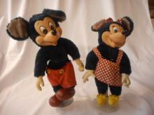 1950's Mickey & Minnie Mouse Plush Dolls, 10