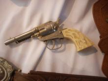 Hubley Toy Cap Gun, Western Single Shot, &