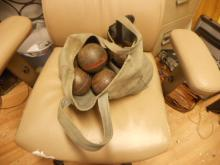 Vintage Botchy Ball Game, This is a favorite of the Amish, comes with Canvas Bag