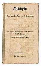 Hoffmann, E.T.A. Olimpia. Eine ernste Oper in drei