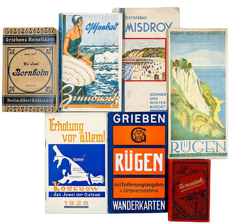 Deutschland - Rügen - - Sammlung von 15 kleinen Reiseführern, Plänen, Bildb