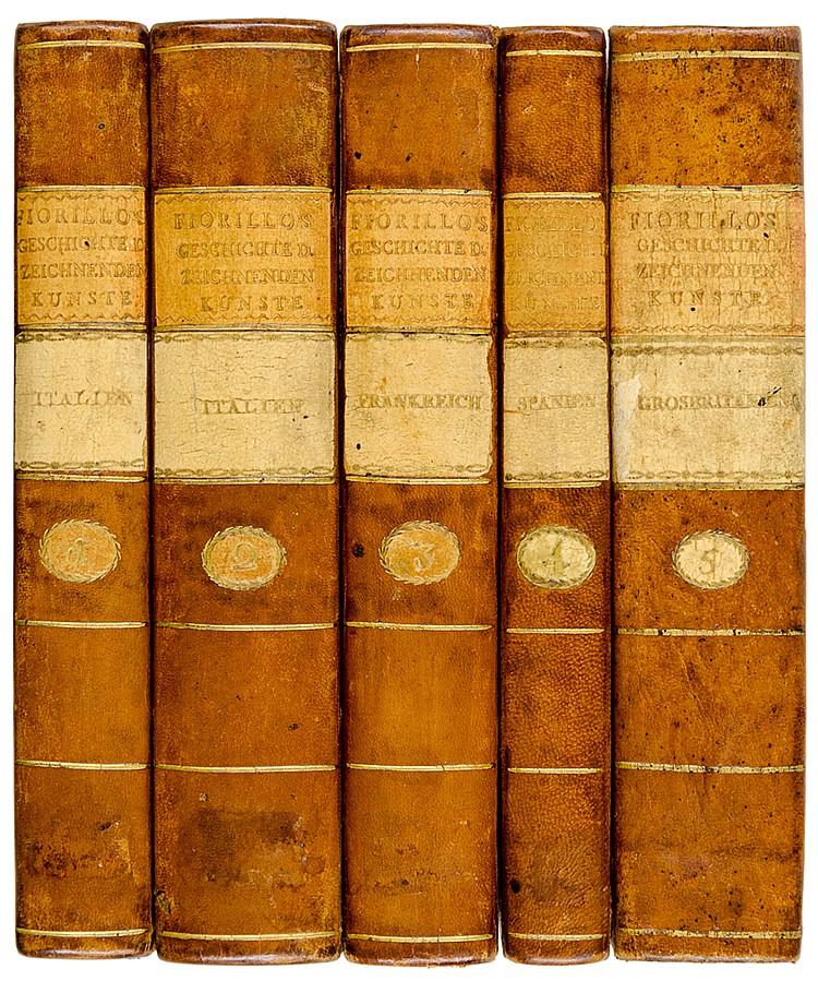 Fiorillo, Johann Domenicus. Geschichte der zeichnenden Künste von ihrer Wie