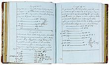 Wurm, Joseph. Cours d'arithmetique. Französische Handschrift auf Papier. Oh