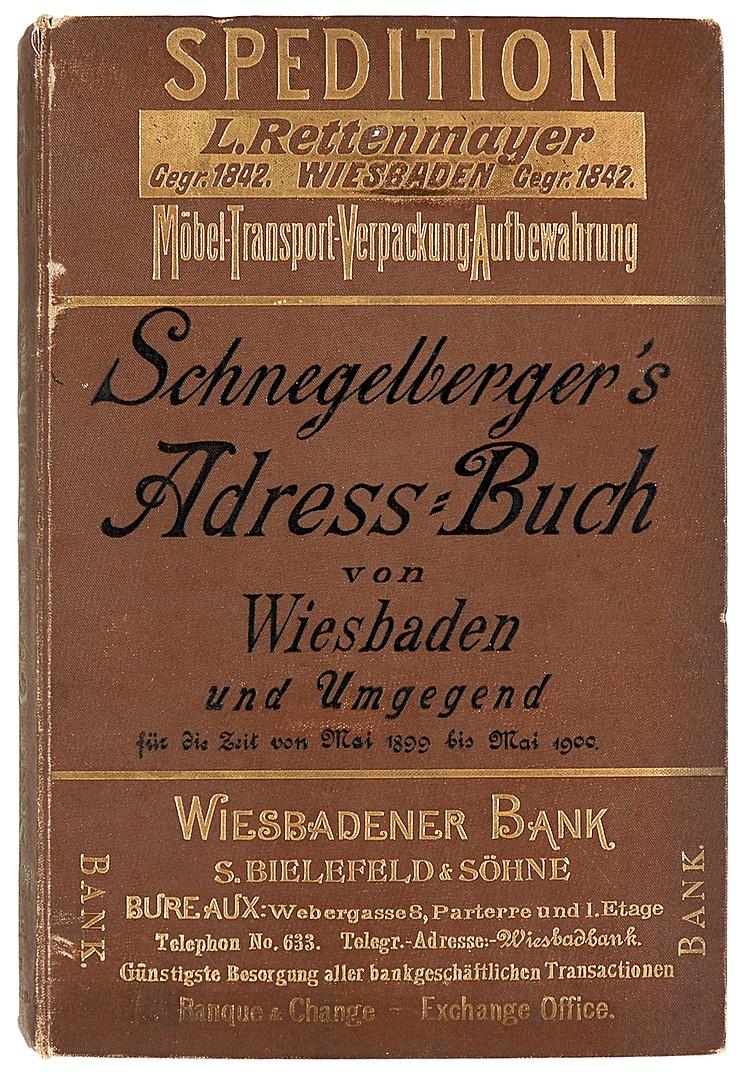 Deutschland - Hessen - - Schnegelberger, Carl. Adress-Buch von Wiesbaden un