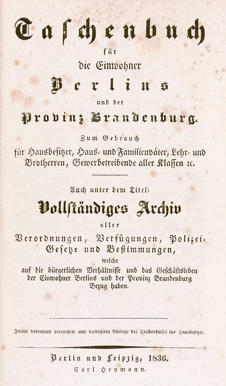 Deutschland - Berlin und Brandenburg - - Taschenbuch für die Einwohner Berl