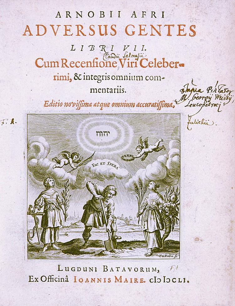 Theologie - - Arnobius Afer. Adversus gentes libri VII. Cum recensione viri