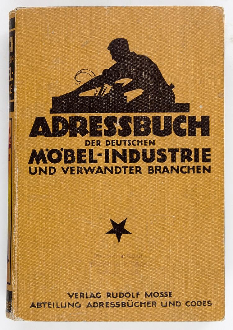 Technik - Möbel - - Adressbuch der deutschen Möbel-Industrie und verwandter