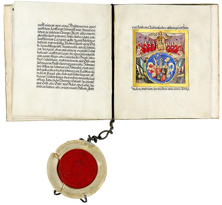 Adelsbrief - - Abschrift des Adelsbriefes für Gisbert von Hemm zu Niederste