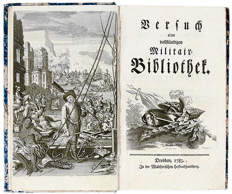 Militaria - - Walther, Conrad Salomon. Versuch einer vollständigen Militair