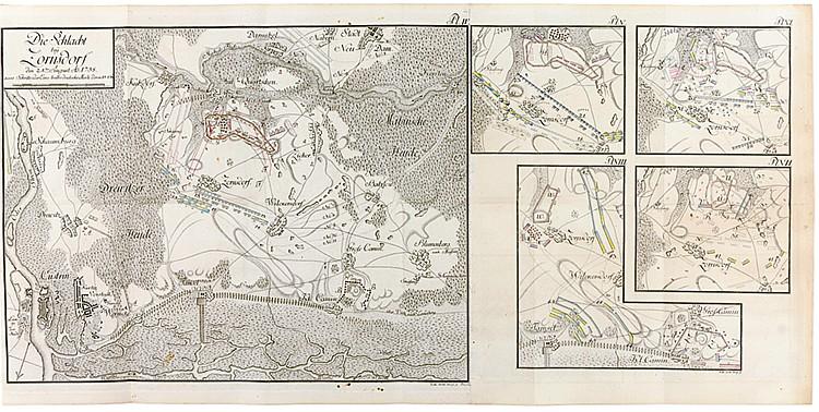 Militaria - - Tielcke, Johann Gottlieb. Beyträge zur Kriegs-Kunst und Gesch