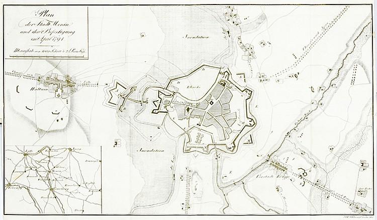 Militaria - - Scharnhorst, G. von. Die Vertheidigung der Stadt Menin, und d