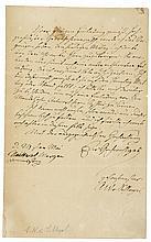 Schlegel, August Wilhelm von. Eigenhändiger, annähernd ganzseitiger Brief a