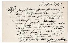 Stuck, Franz von. Zwei eigenhändige Postkarten an den Münchner Redakteur Os