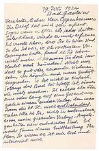 Mann, Heinrich. Eigenhändige, eineinhalbseitige Postkarte an den Maler MOPP