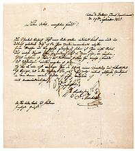 Moscheles, Ignaz. Eigenhändiger, annähernd ganzseitiger Brief an einen Onke