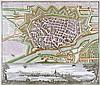 Karten - Ulm - - Seutter, Matthäus. Ulma memorabilis ac permunita libera Im, Matthäus (1678) Seutter, €300