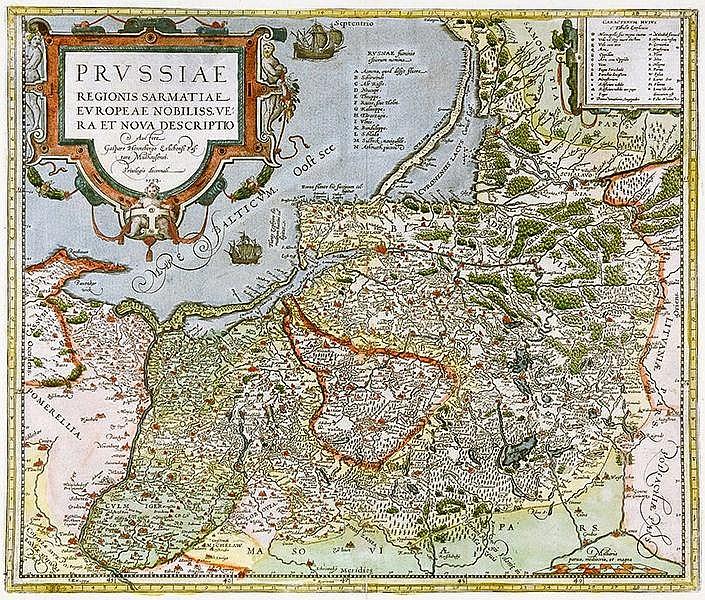 Karten - Ostpreussen - - Henneberg, C. Prussiae regionis sarmatiae Europeae