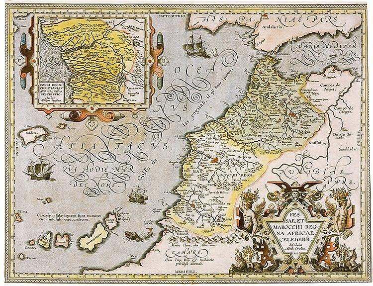 Karten - Nordafrika - - Ortelius, Abraham. Fessae, et Marocchi regna Africa