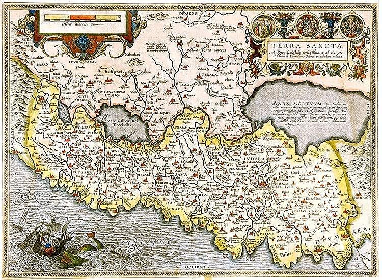 Karten - Palästina - - Laicksteen, P. und C.Sgrothen. Terra Sancta, A Petro