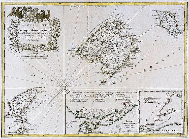 Karten - Spanien - - Bellin, Jacques-Nicolas. Carte des Isles de Maiorque M