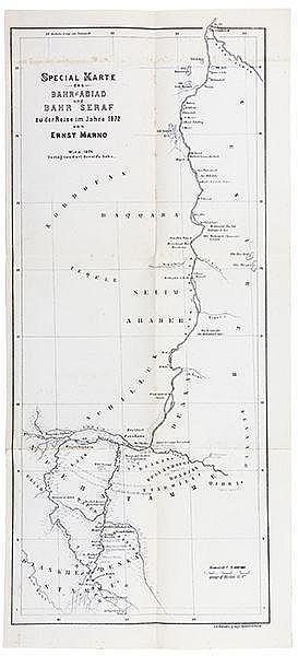 Afrika - Nordafrika - - Marno, Ernst. Reisen im Gebiete des blauen und weis
