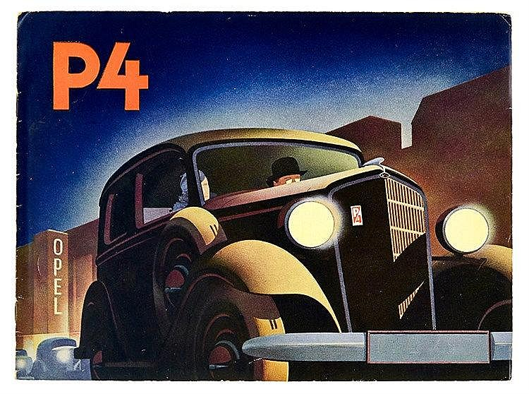 Technik - Automobil - - Opel. Sammlung von 2 Werbebroschüren und einer Prei
