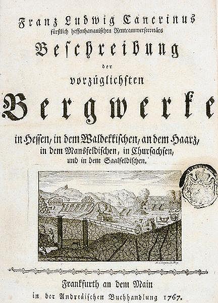Technik - Bergbau - - Cancrin, Franz Ludwig von. Beschreibung der vorzüglic